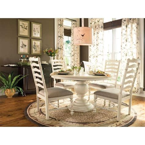 paula deen round dining table dining set 5 piece in linen
