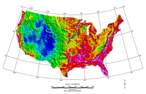 elevation map us states elevation map of usa