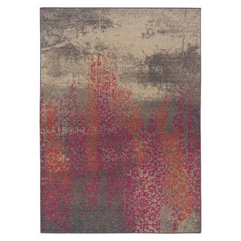 Pink And Grey Area Rug Climbing Floral Area Rug Gray Pink Target