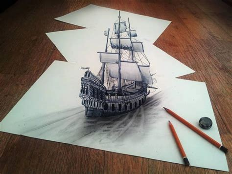 Three D Sketches by 3d Drawings On Paper To Your Mind Randommization