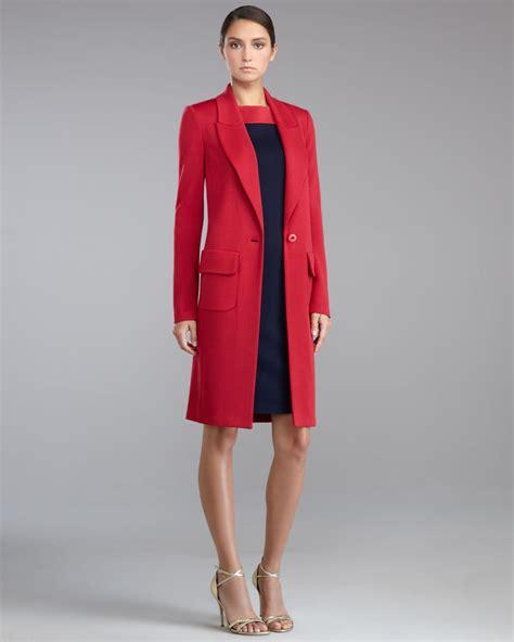 St Dress Jaket st womens knit cocoon jacket berry in lyst