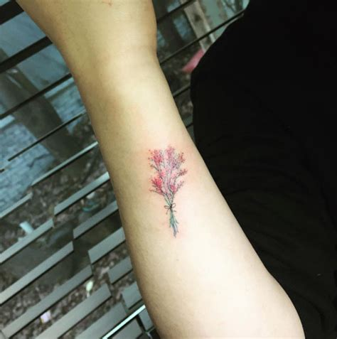 40 cute and tiny floral tattoos for women tattooblend