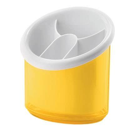 yellow kitchen utensil holder guzzini cutlery drainer modern designer yellow utensil
