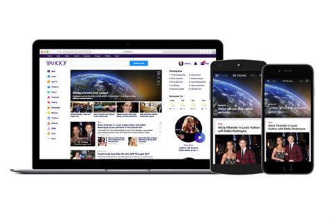 Yahoo Email Address Search Uk Yahoo Strikes Global Content Partnership Deals With Premium Uk Media Caign Us