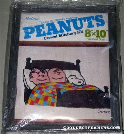 charlie brown bedding peanuts crewel stitchery kits collectpeanuts com