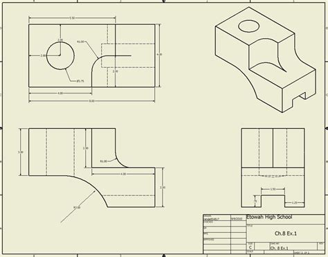 3 Drawing Views by Isometric View Drawing