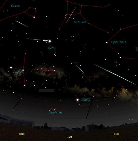 lyrid meteor shower starwatch moravian college astronomy