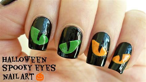eye nail art tutorial halloween spooky eyes nail art youtube
