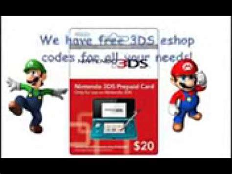 3ds Eshop Code Giveaway - free nintendo eshop codes givaway doovi