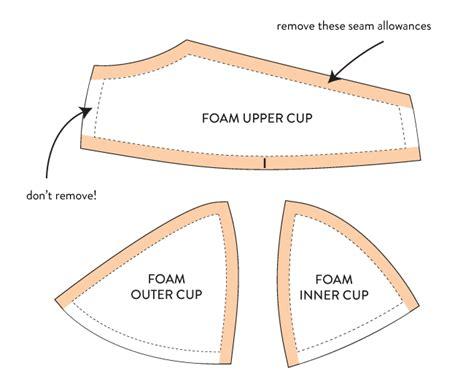 How To Make A Paper Bra - a foam cup bra part 2 cloth habit