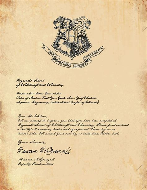 hogwarts acceptance letter template playbestonlinegames