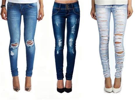 1000 images about s denim womens fit ripped denim blue size 8 14 ebay