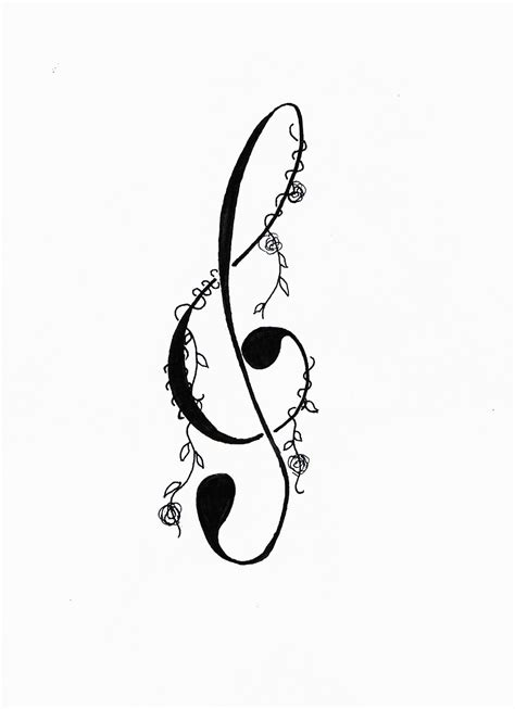 treble clef tattoo designs treble clef tattoos treble clef design by