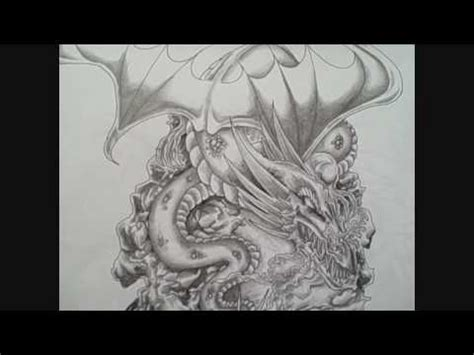 pen dragon tattoo pen and ink dragon tattoo art design youtube