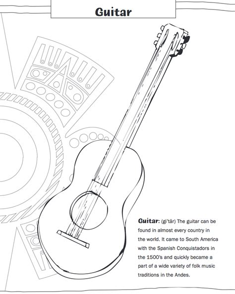 irish instruments coloring page caribbean making multicultural music