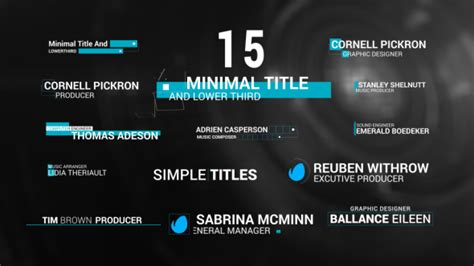after effects title card template minimal title lowerthird corporate after effects