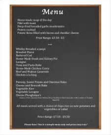 chalkboard menu template free 30 menu templates free sle exle format free