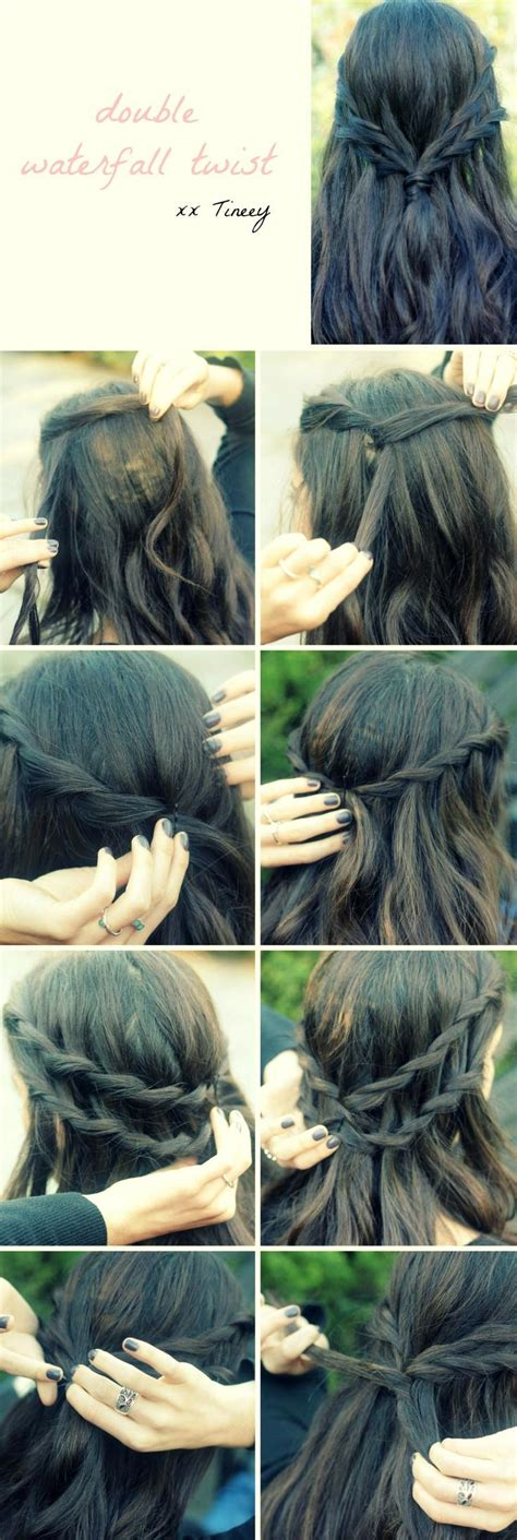 hairstyles how to do a waterfall double waterfall twist hairstyles how to