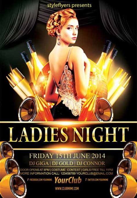 Elegant Ladies Night Party Free Flyer Template Nightclub Ideas Free Psd Flyer Templates Bar Flyer Templates Free