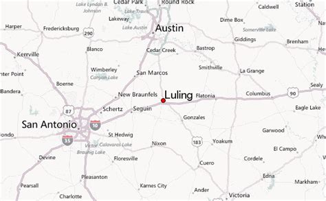 where is luling texas on a map luling texas location guide