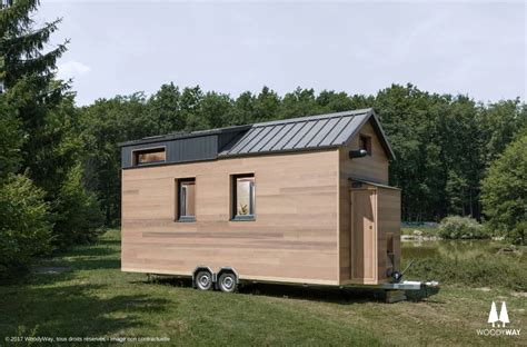 cottage on wheels 190 sq ft tiny cottage on wheels by woodyway