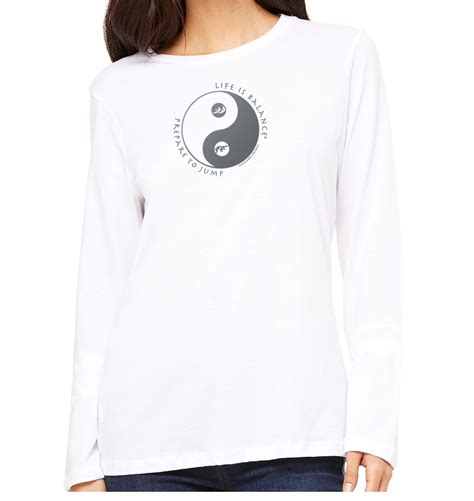 Life Is Balance Inspirational Skydiving Long Sleeve T Neck Inspiration