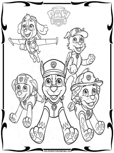 free paw patrol coloring pages to print realistic