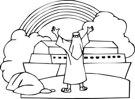 what color was noah noah rainbow coloring pages