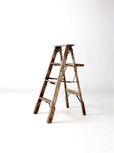 Decorative Step Ladder by Vintage Painter S Ladder Wood Step Ladder Decorative