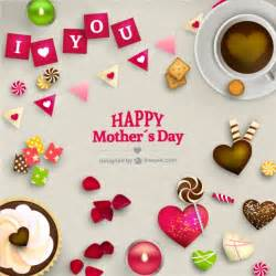 lovely mothers day card vector free