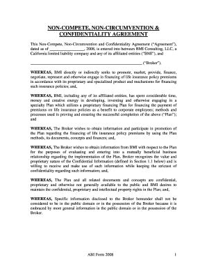 Sle Noncompete Agreements Forms And Templates Fillable Printable Sles For Pdf Word Non Disclosure Non Circumvention And Non Competition Agreement Template
