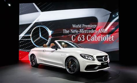 new mercedes cab mercedes amg c63 cabriolet revealed at new york 2016 by
