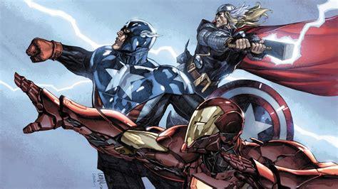 captain america thor ironman wallpaper artwork captain america comics iron man marvel comics