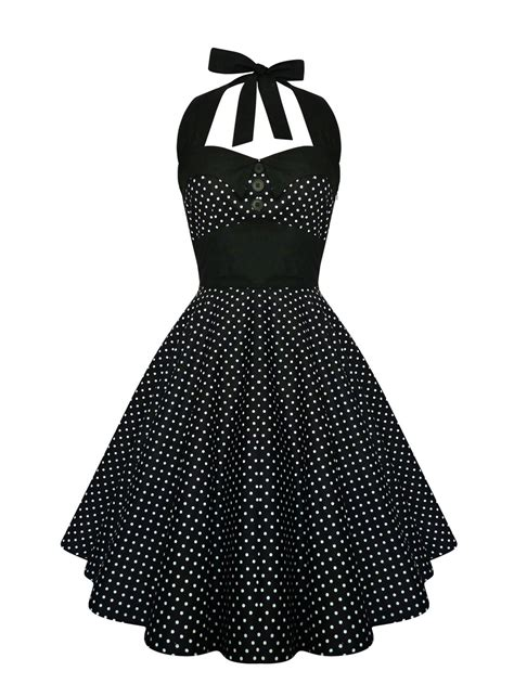 swing kleid polka dots classic black and white polka dot swing dress