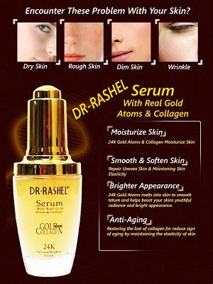 Dr Bright Anti Aging Serum dr rashel serum with real gold atoms collagen anti wrinkle aging moisturizing essence