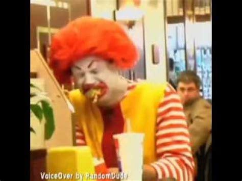Ronald Mcdonald Phone Meme - ronald mcdonald doesn t like mcdonalds food voiceover