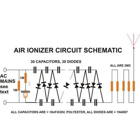 Room Diagraming build an air ionizer amp purifier circuit at home