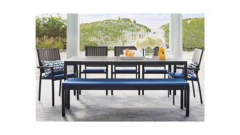 Alfresco Grey Rectangular Dining Table Crate And Barrel Crate And Barrel Dining Table And Chairs