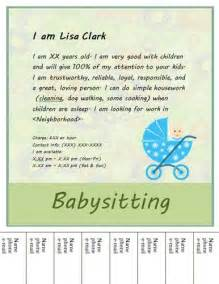 babysitting flyer template babysitting flyers flyers and flyer design on