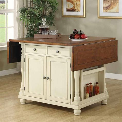buttermilk cherry kitchen island with drop leaves 102271 country cottage bar unit kitchen island storage cabinet