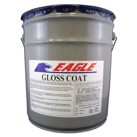 Clear Acrylic Sealer eagle 5 gal gloss coat clear look solvent based