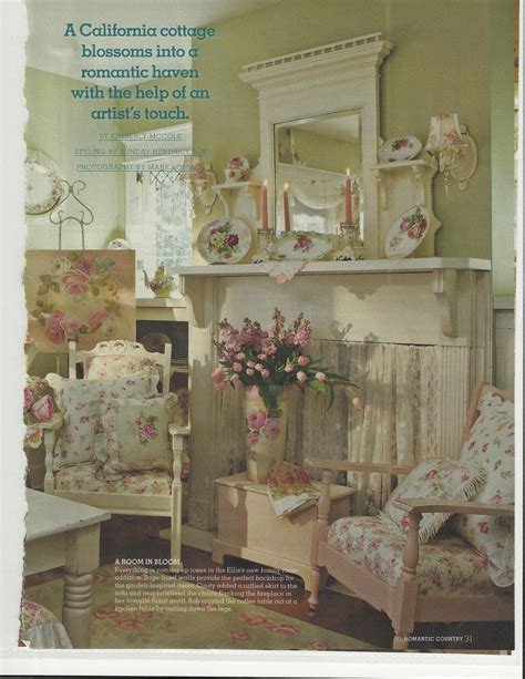 country home decor magazines bob cindy ellis s lovely home featured in romantic