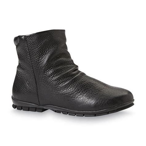 s ola black waterproof winter snow ankle boot