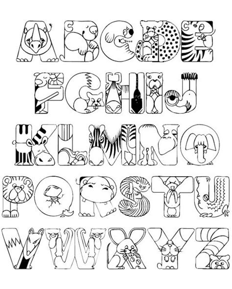 Alphabet Coloring Pages A Z Pdf Free Printable Alphabet Coloring Pages For Kids Best