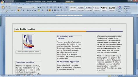 microsoft word 2007 brochure template brochure templates microsoft word 2007 images