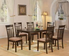 furniture kitchen sets 7 pc dining room dinette kitchen set table and 6 chairs ebay