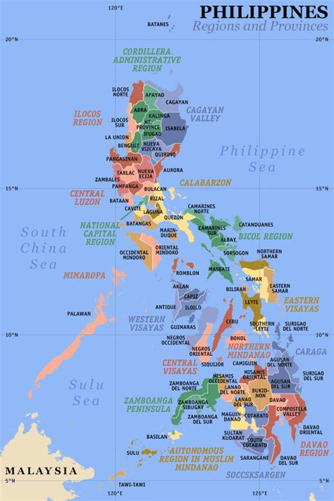 printable map philippines philippines regions and provinces mapsof net