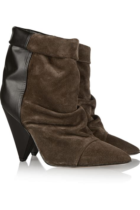 marant slippers lyst marant andrew suede and leather ankle boots