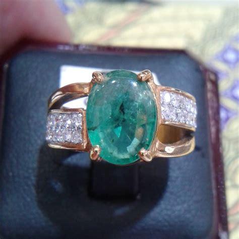 Promo Cincin Emas Mata Permata Perhiasan Imitasi Gold 18k Yaxiya jual cincin wanita berlian eropa mata zamrud 0274 ring