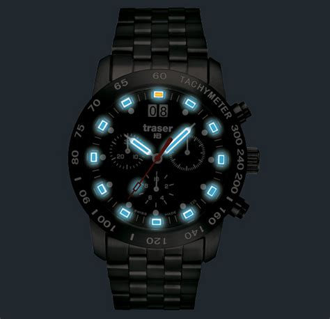 montre suisse militaire classic chrono traser h3 mat pro blue chronographe